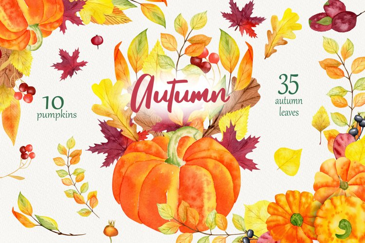 Bright autumn. 68 elements and compositions.
