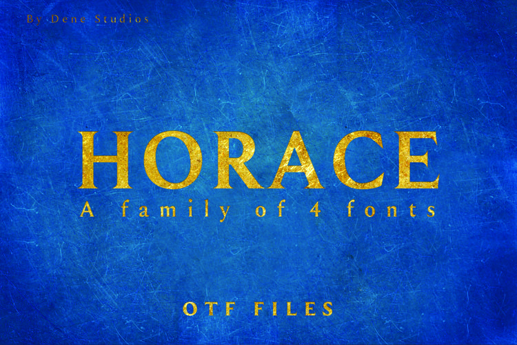 HORACE, A Strong Serif Type example image 1