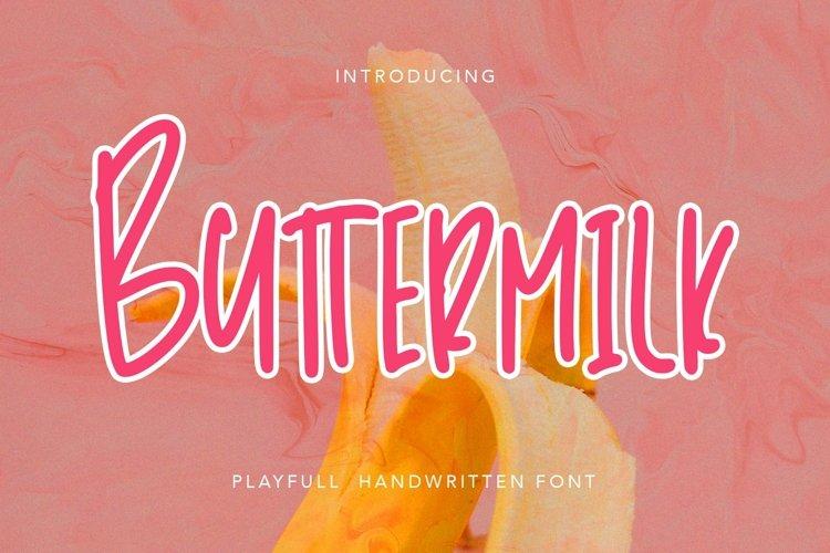 Web Font Buttermilk - Playfull Handwritten Font example image 1