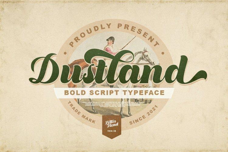 Dustland - Bold Script Typeface example image 1
