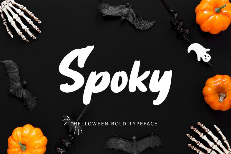 Spoky Helloween Bold Typeface example image 1