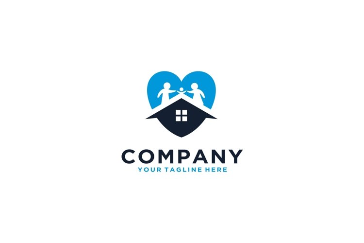 Family Love with home logo