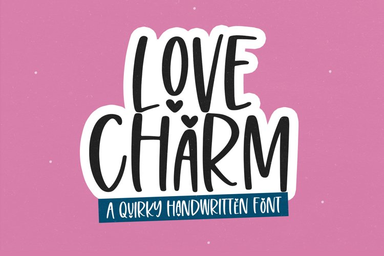 Love Charm - Cute Handwritten Font example image 1