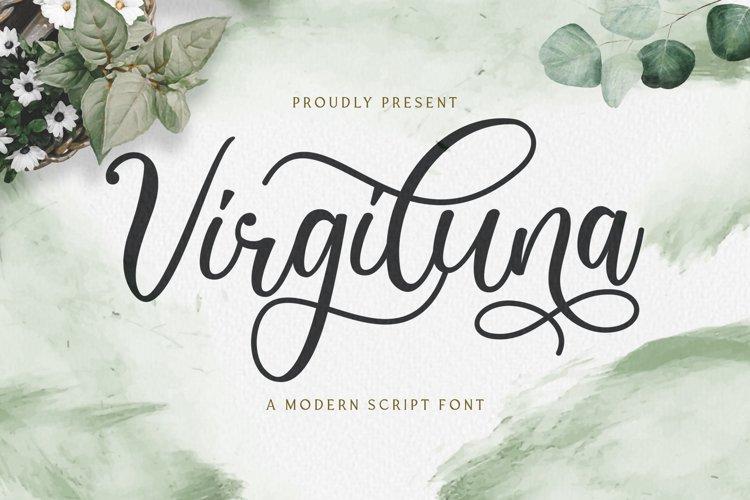 Virgiluna - Modern Calligraphy Font example image 1
