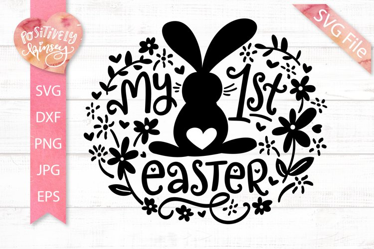 My 1st Easter SVG File, My First Easter Svg, Baby Girl, Boy example image 1