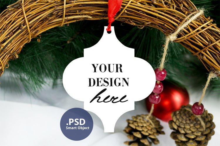 Arabesque Ornament Mockup PSD, Christmas Ceramic tile mockup example image 1