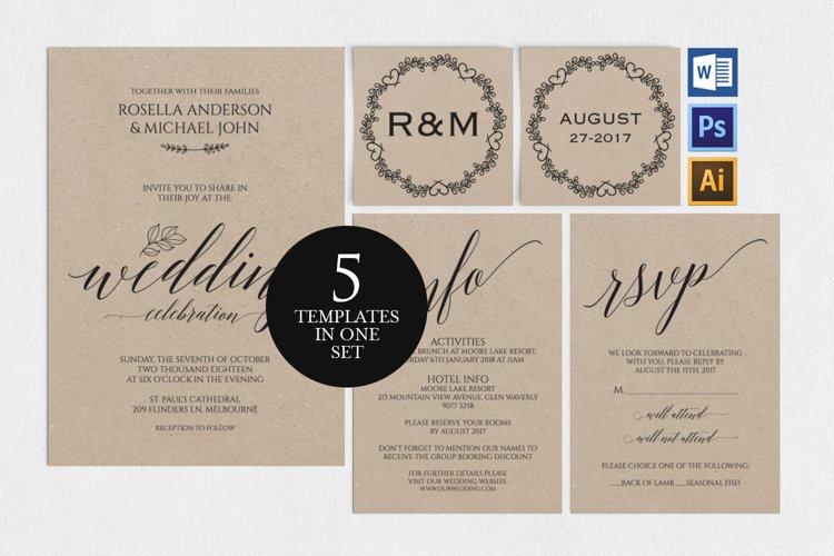 Wedding invitation set portrait, TOS_35 example image 1