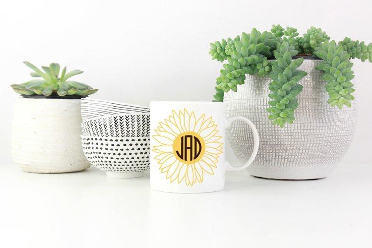 Sunflower Monogram Bundle, SVG Cut Files - Free Design of The Week Design0