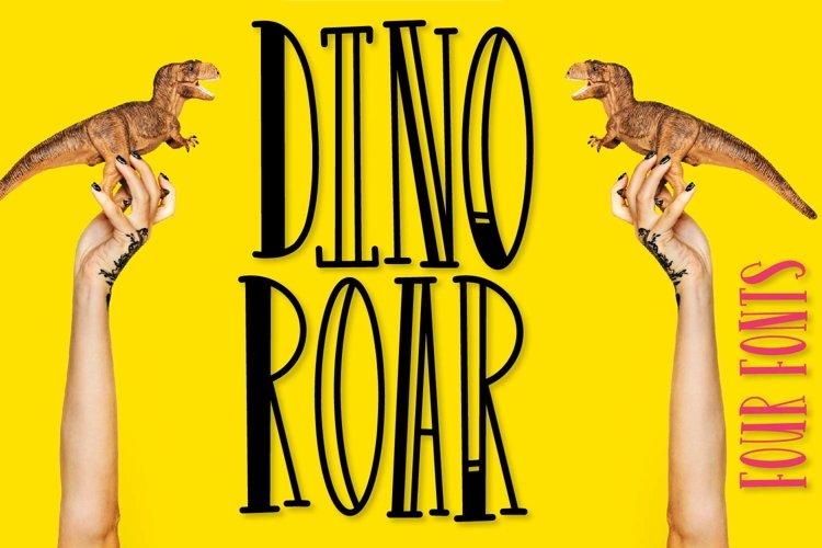 FB - Dinoroar - Four Font Family!