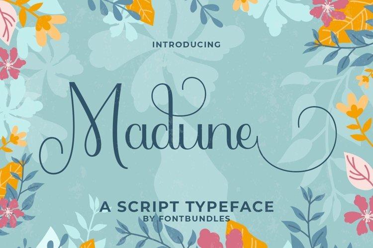 Web Font Madune example image 1