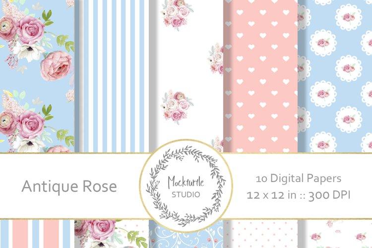 Antique Rose Floral digital paper