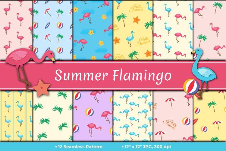 Summer Flamingo Pattern
