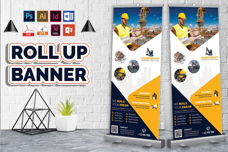Construction Roll Up Banner Vol-09