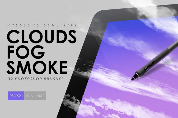 Clouds, Fog, Smoke Photoshop Brushes example image 1