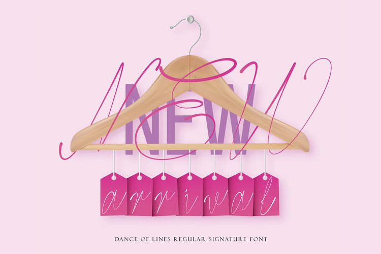 Dance Of Lines Signature Font example image 1