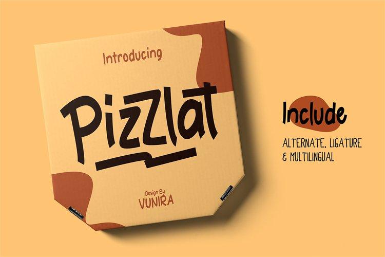 Pizzlat | Fancy Font example image 1