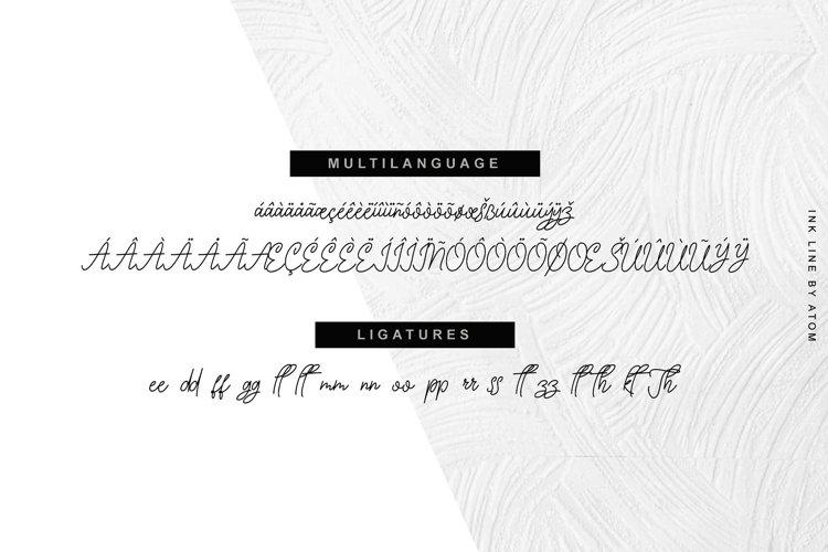 Ink Line   Modern Script Font example 3