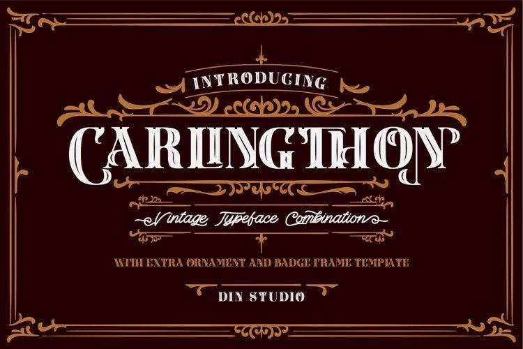 Carlingthon Vintage Font Pack