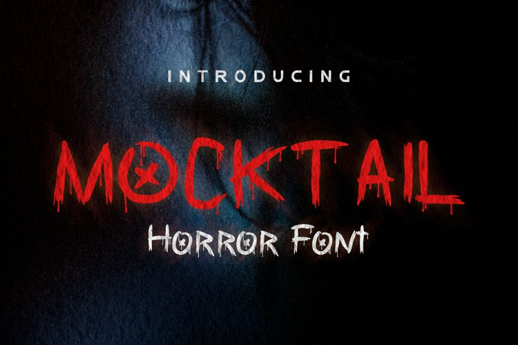 Mocktail - Horror Font example image 1