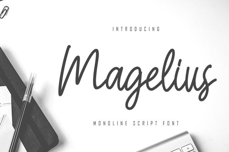 Magelius - Monoline Script Font example image 1