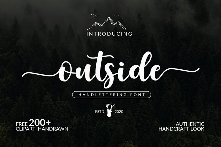 Outside Handlettering Font example image 1