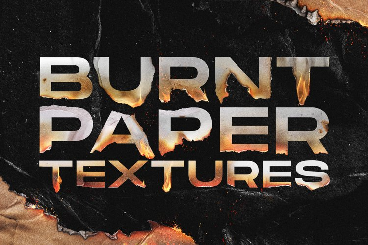 Torn and burned paper textures