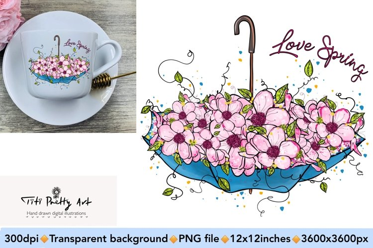 Love Spring PNG, Spring Is Here example image 1