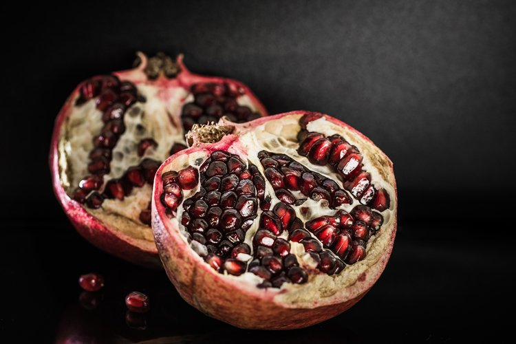 Red ripe juicy pomegranate fruit example image 1