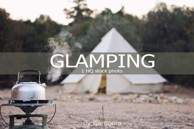Glamping campsite 1 HQ Stock Photo