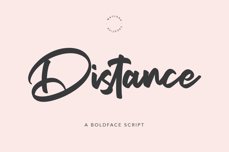 Distance Bold Script Font example image 1