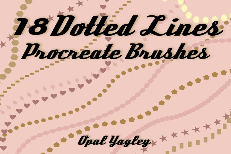 18 Dotted Lines Procreate Brushes example image 1