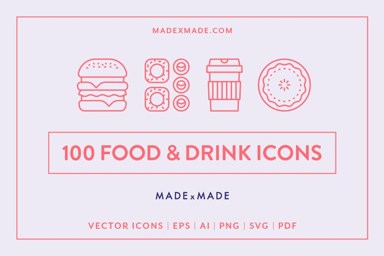 Line Icons - Food & Drink example image 1