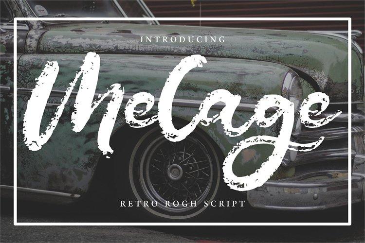 Melage | Retro Rogh Script Font example image 1