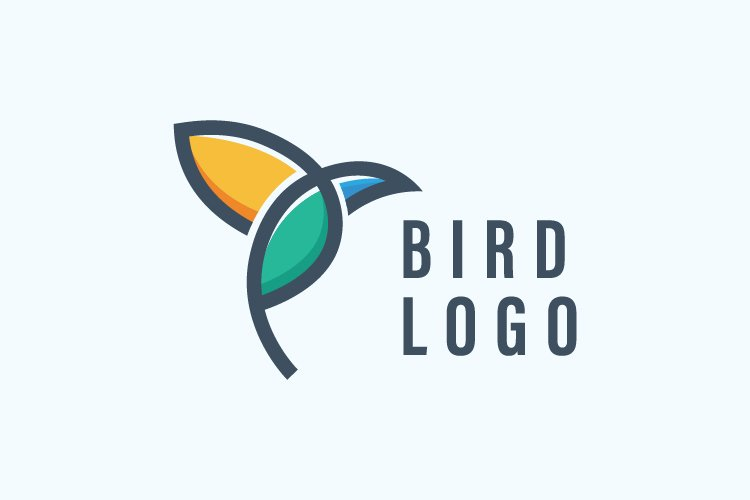 simple bird logo elegant example image 1