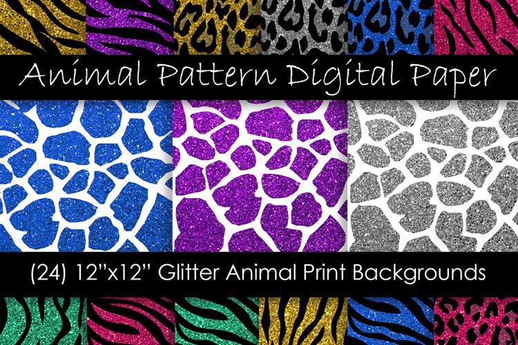 Glitter Animal Print Patterns - Animal Print Backgrounds