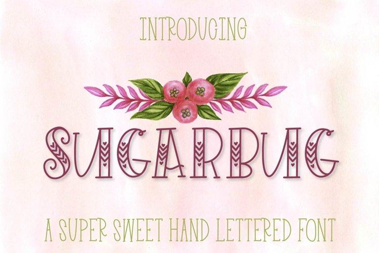 Web Font Sugarbug - A Hand Lettered Heart Font example image 1