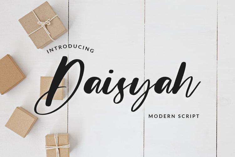 Daisyah Modern Script Font example image 1