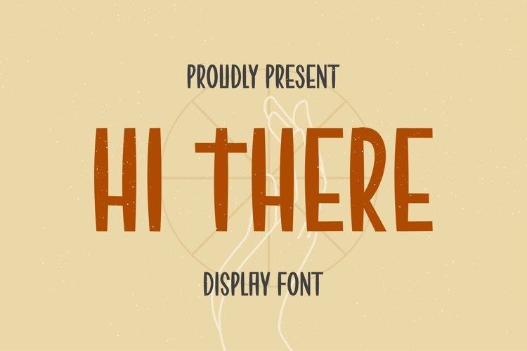 Web Font HI THERE Font example image 1