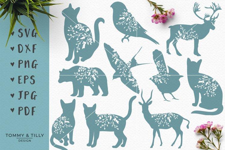 Animal Silhouettes Mega Bundle - SVG DXF PNG EPS JPG PDF Cut - Free Design of The Week Design2