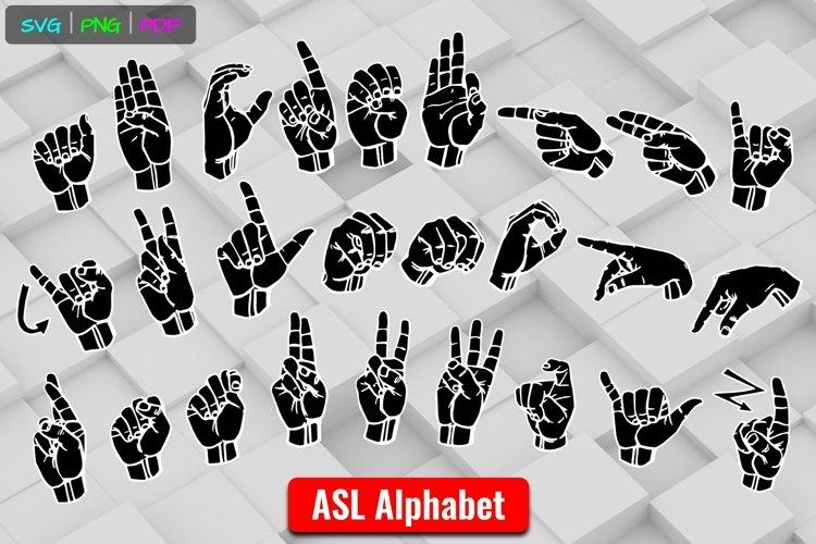 ASL ABCs Alphabet American Sign Language SVG PNG Cut Files