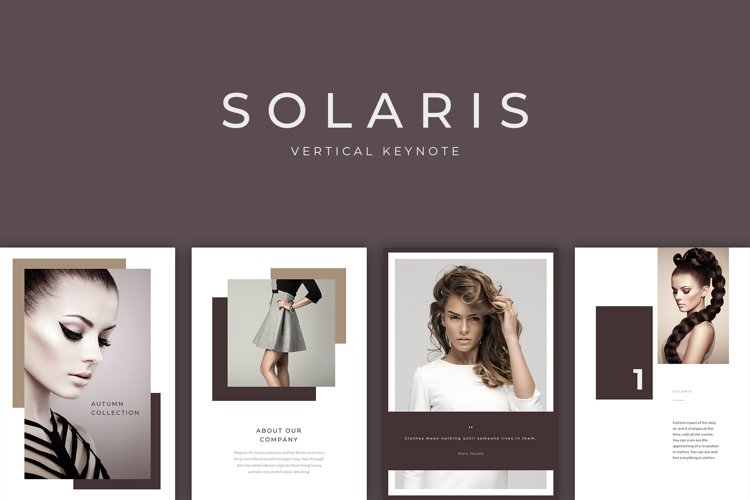 Solaris Vertical Keynote Presentation Template example image 1