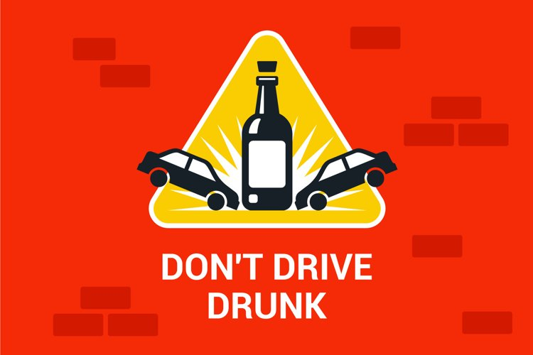 accident drunk driver. poster driving intoxicated example image 1