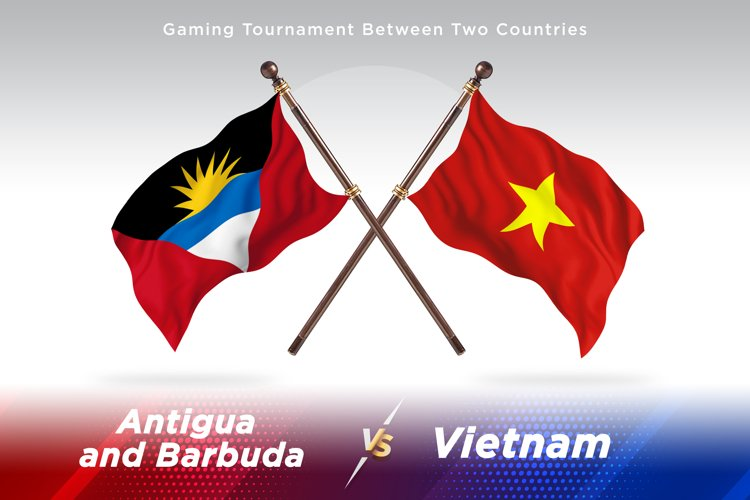 Antigua vs Vietnam Two Flags example image 1