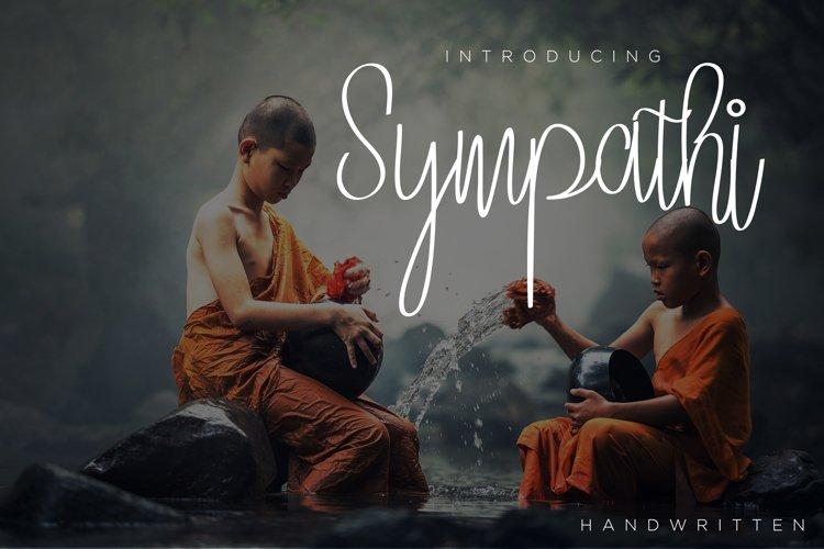 Sympathi Font signature example image 1