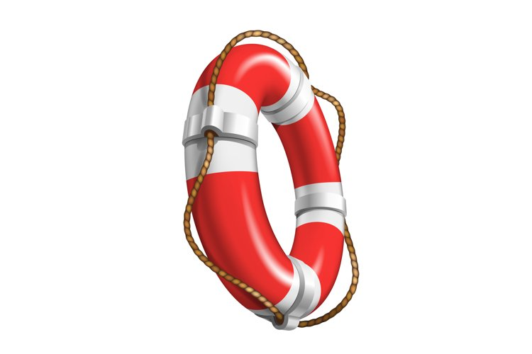 Life Saver Boat Element For Help Drowning Vector example image 1