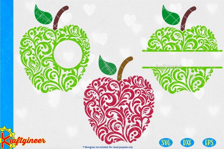 Swirly Apples SVG | Teacher SVG example image 1