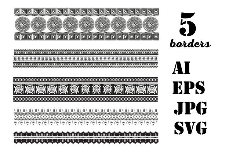 Decorative seamless borders example image 1