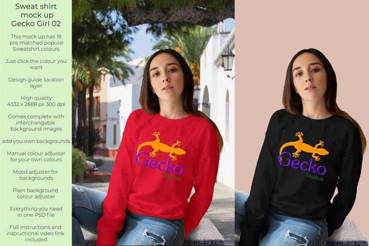 Gecko Girl 2 Sweatshirt mock up example image 1