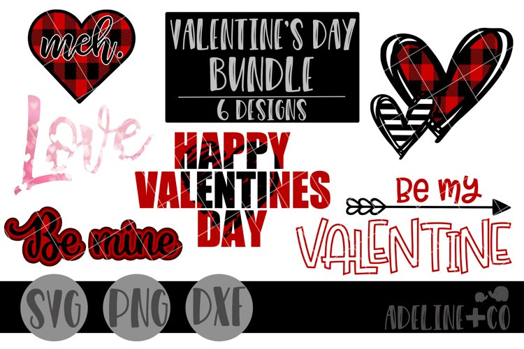 Valentine's day bundle, SVG, PNG, DXF example image 1