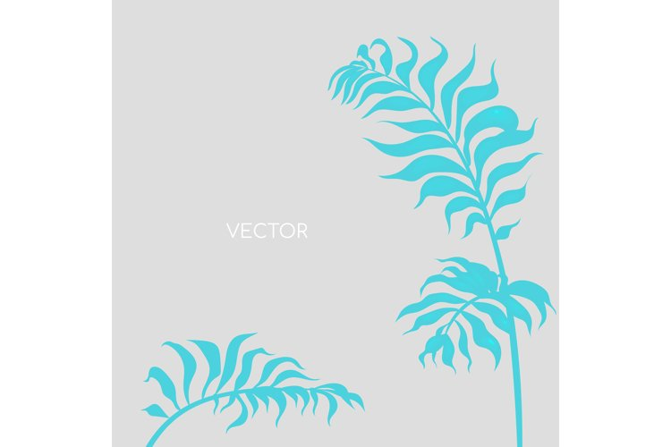 Botanical branch flat color vector background example image 1
